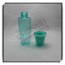 Chunsili plastic green transparent plastic bottle 130ml pet