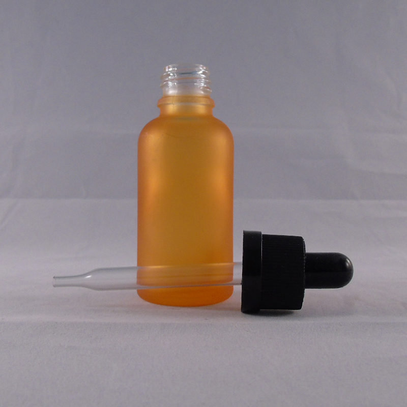 matte arange 30ml frosted glass dropper bottle for olive oil