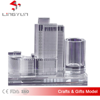3D laser crystal building model