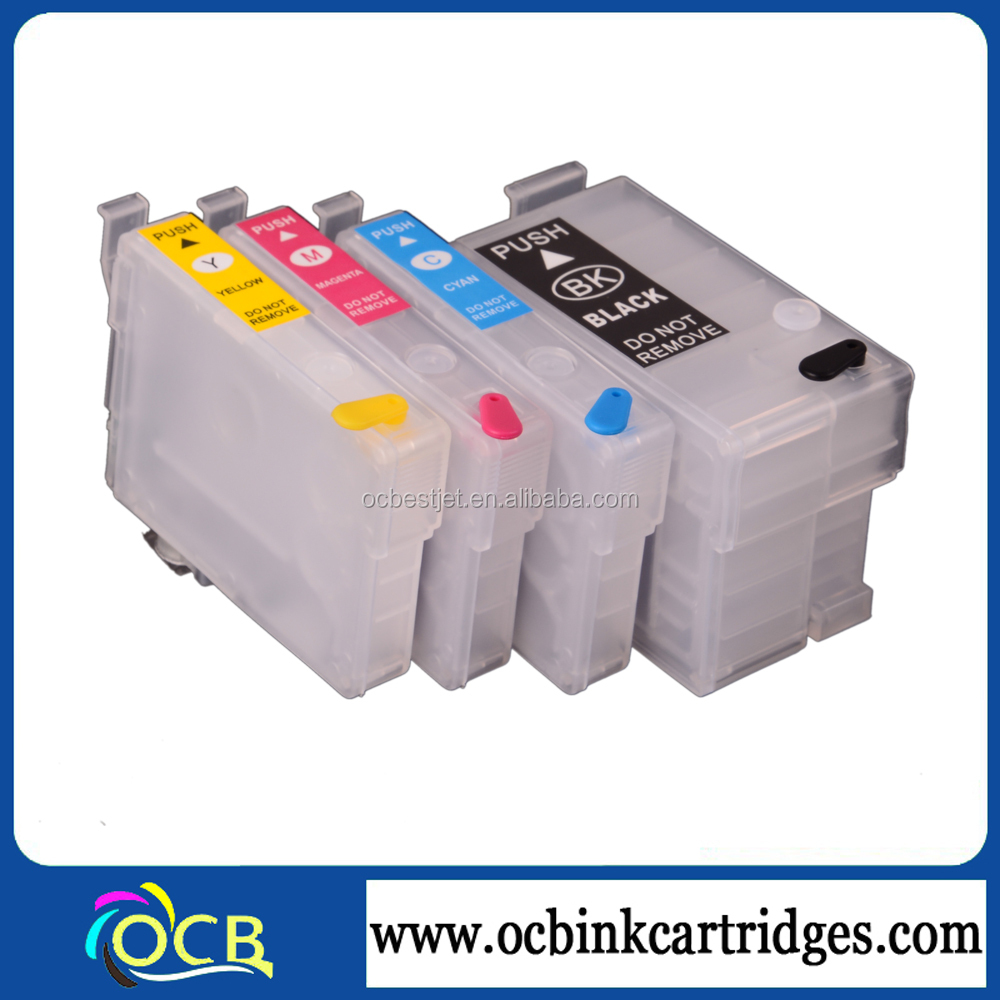 Refillable Ink Cartridges T200 For Epson Expression Home Xp 200 300 400 With Permanent Chip