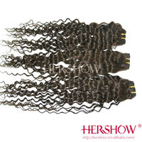 100 percent indian human remy hair extension deep wave Hershow expression weave