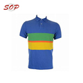 Yarn Dyes Stripe Colorful Polo Shirt