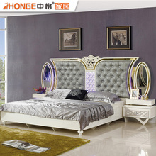 Wood Material Luxury Classic Bedroom Set Furniture For Sale