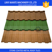 Light Weight Stone Chips Coated Metal Roof Tile Building Material Nigeria Roof Tile Color Coated Metal