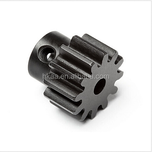 custom metal PINION GEAR 12 TOOTH gear SHAFT,small pinion gear
