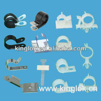 R type cable clips Metallic Cable Clip Adhesive Wire Saddle Locking