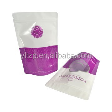 best selling products stand up plastic packaging bag with zipper for glace date