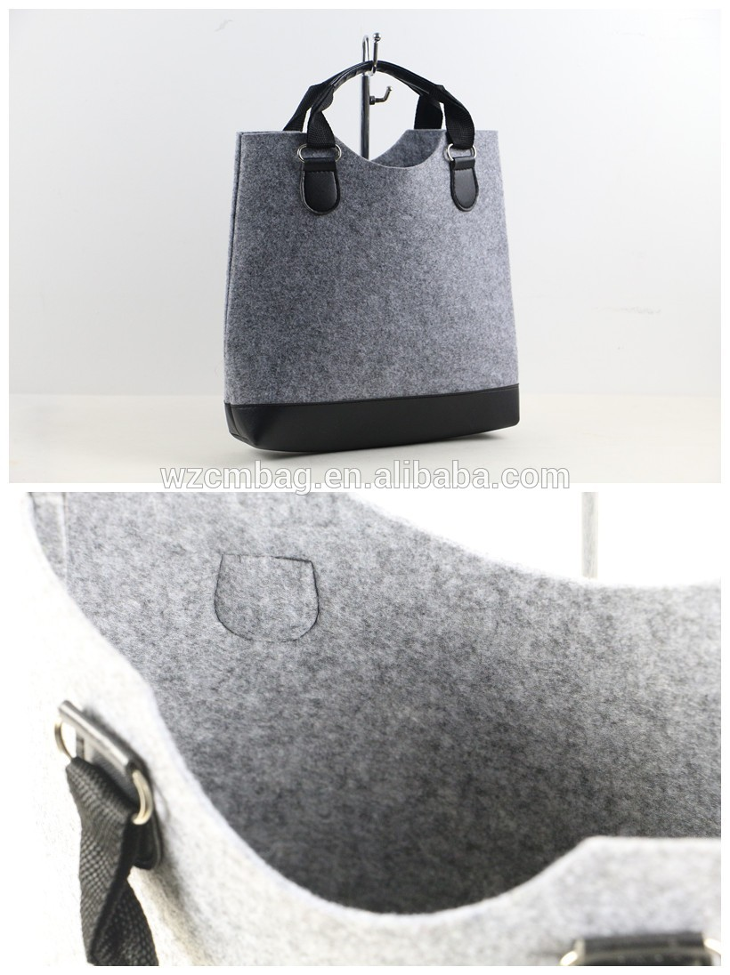 Eco Felt Tote Bag with Handles