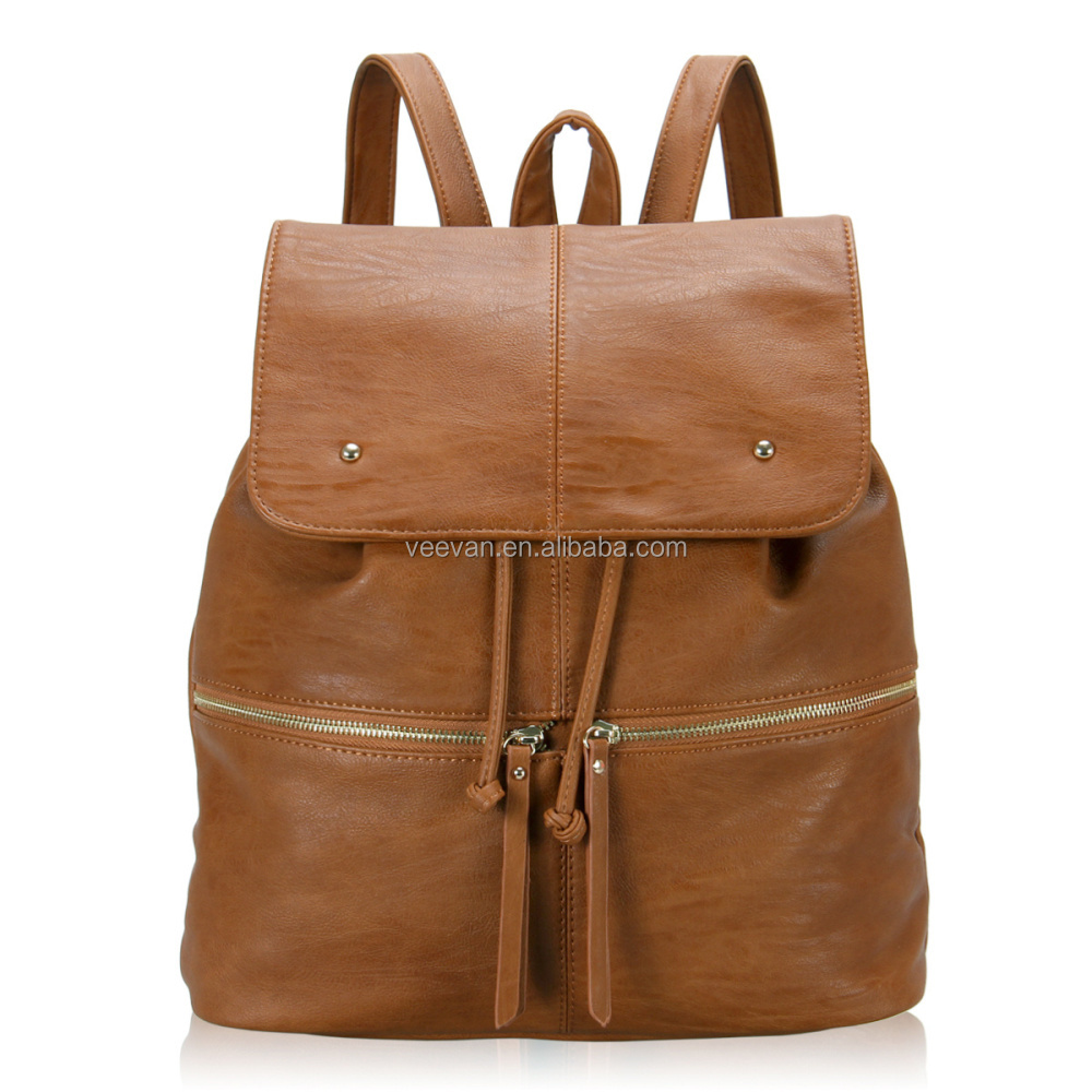 New arrival leisure stylish leather women backpack