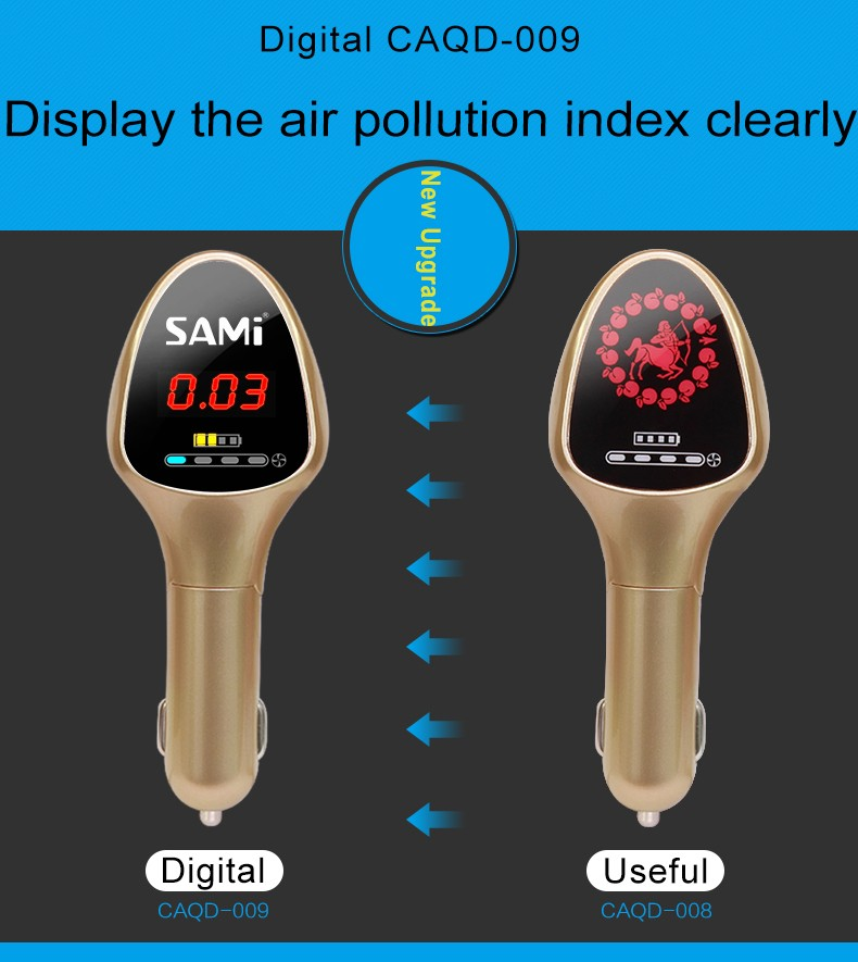 high accuracy Portable VOC / TVOC detector Portable particle counter air quality monitor CO detector