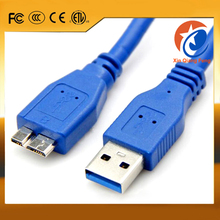 High speed blue 1.5m universal USB 3.0 to micro USB 3.0 male to male AM to BM data cable
