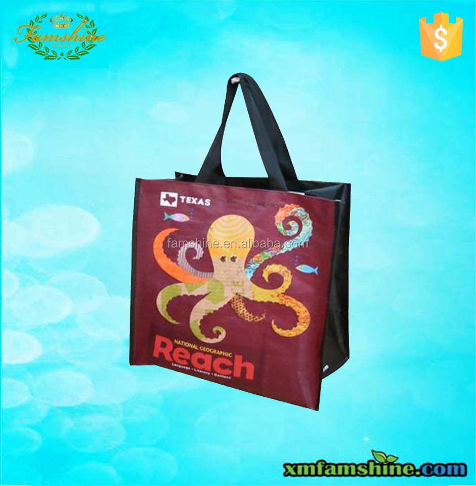 Durable pp laminated woven bag for shopping