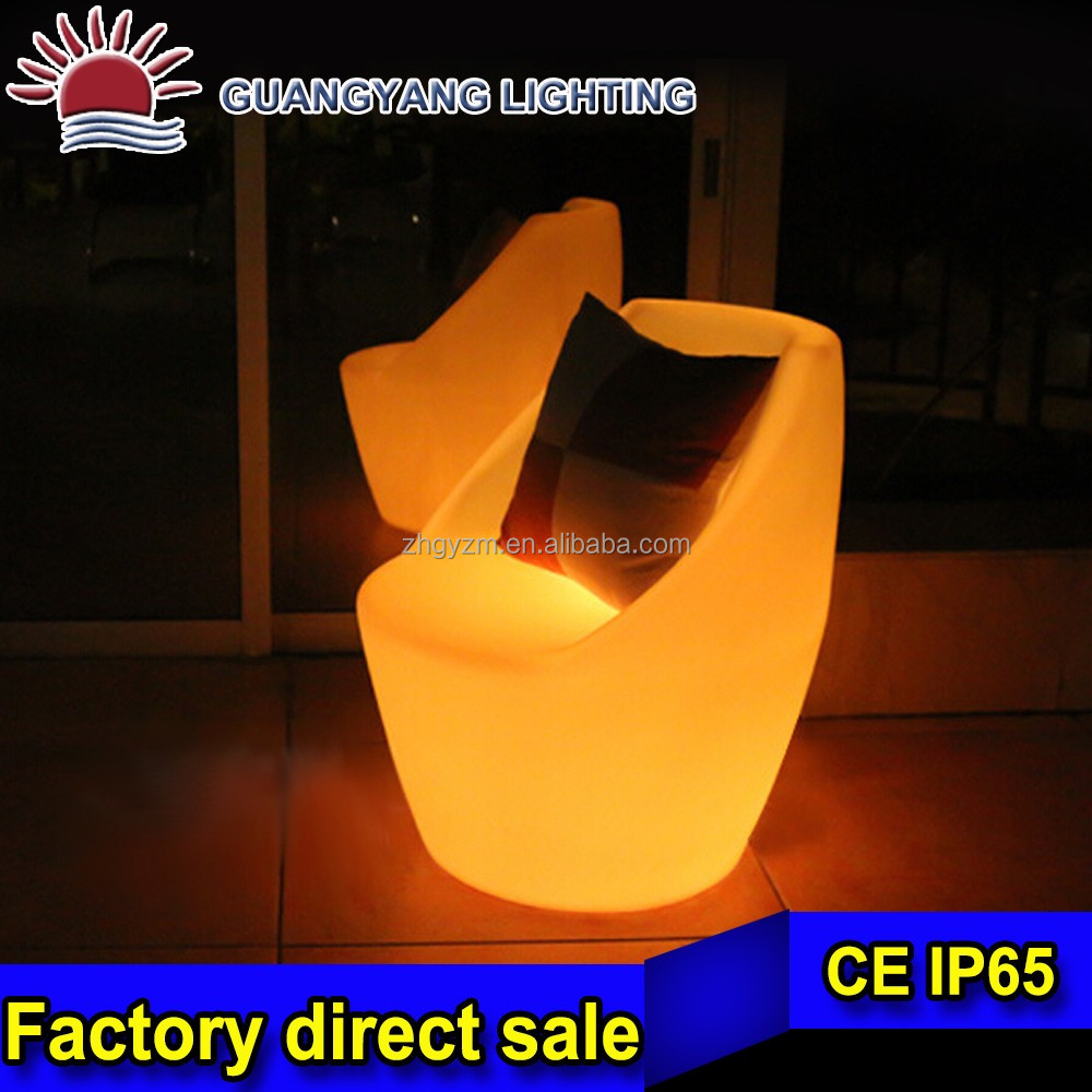 Light Luminous Led Rotational Outdoor Bar Tables And Chairs
