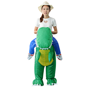 Factory Wholesale Halloween Carnival Funny Costume Inflatable Mascot Walking Dinosaur Costume For Kids