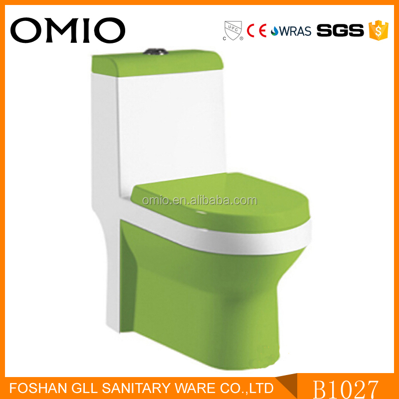 Hot sale ceramic toilet color water closet bathroom ewc back to wall toilet