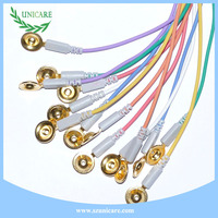 10 colos cable wires din 1.5mm pin eeg electrodes