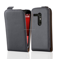 High Quality Commercial Flip Genuine Leather Phone Case Cover For Motorola Moto G