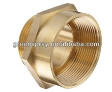 "3"" NPT Female to 2-1/2"" NH Male Brass Fire Hose Adapter,Nipple"