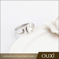 OUXI Wholesale Jewelry Bows Ring 925 Sterling Silver Diamond Women Engagement Ring Y70060