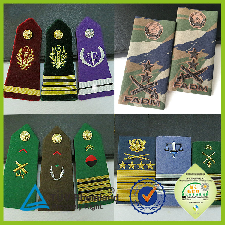 Shoulder boards military epaulets rank design 2016 custom shoulder epaulets