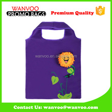 Many Colors available sunflower folding drawstring bag