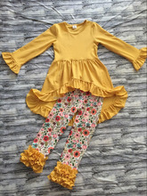 wholesale children's boutique Clothing giggle moon remake outfits mustard pie remake kids clothes baby clothing with ruffle pant
