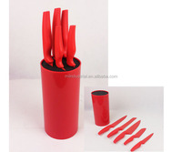 5pc New Design High Quality Kitchen Knife Block with Holder Soft Grip Handle