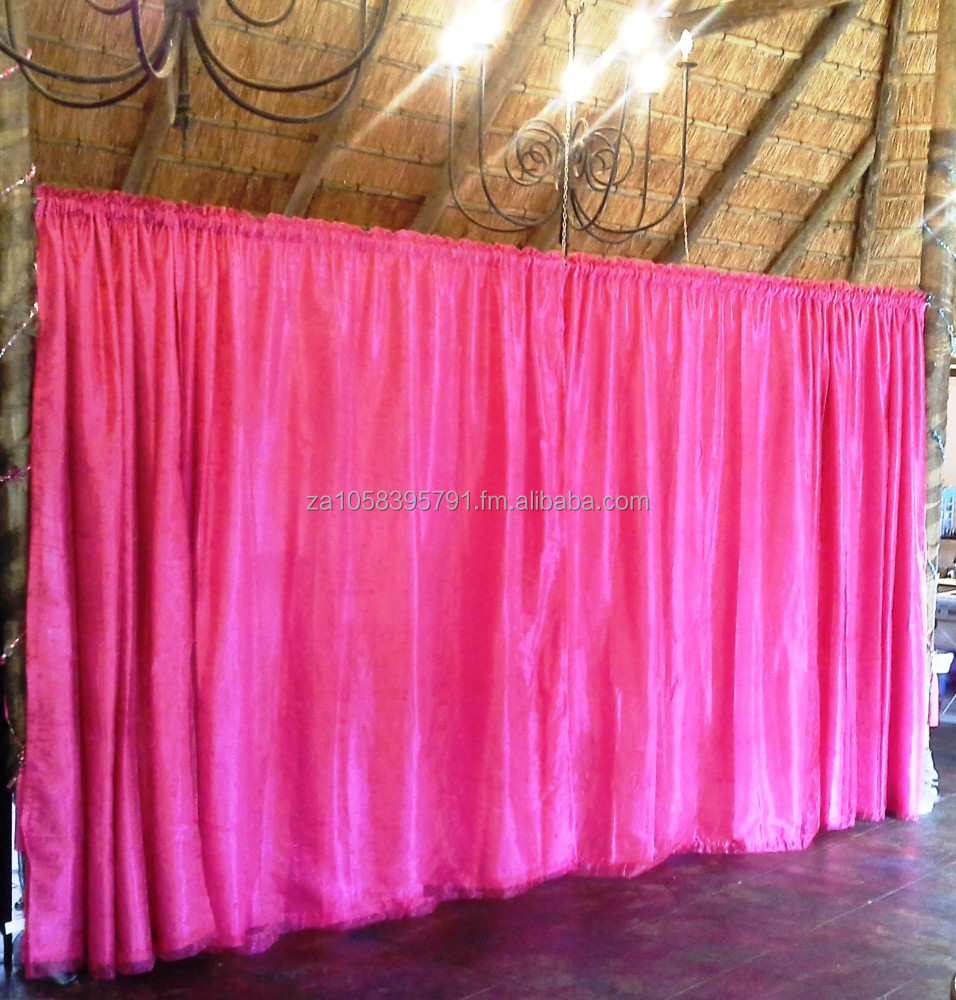 Embroidered Organza Taffeta Curtains Lined and Taped