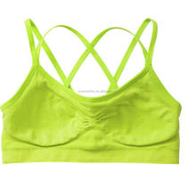 Best comfort seamless wireless double strappy sports bra with removable padding