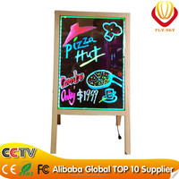 wholesale alibaba 2016 hot selling wooden LED writing board promotion led board for advertising high quality factory direct!
