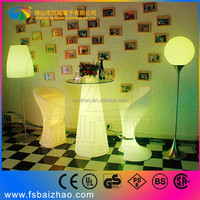 Tempered glass LED bar table with top glass