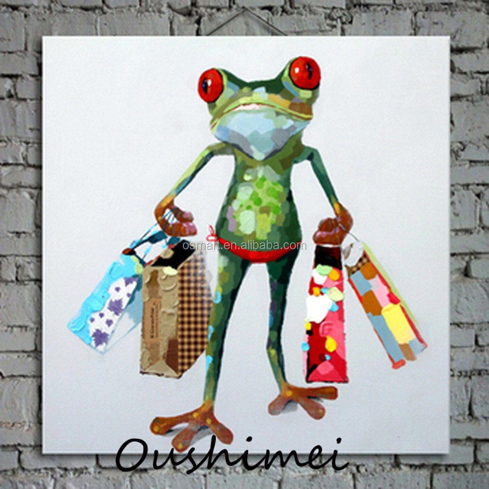 Frog Oil Paintings Modern Abstract Animals Pictures Of Wall Hangings