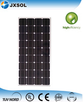 High efficiency 100w mono crystalline solar panel to grid tie inverter for solar power system