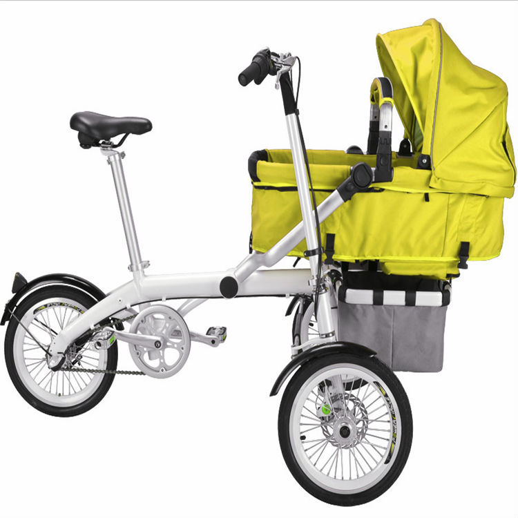 Stroller Factory Supply Hot Sell Baby Pram Tricycle Mother Child Bike