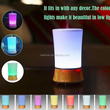 Home Use and Decor Color Changing Wood Grain Ultrasonic Essential Oil Diffuser Humidifier