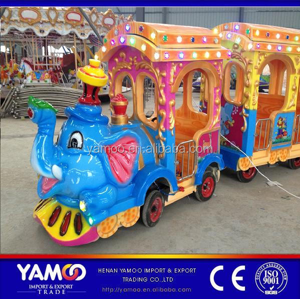 CE Approved Battery Operated Cartoon Trackless Train / Electric Train for Children