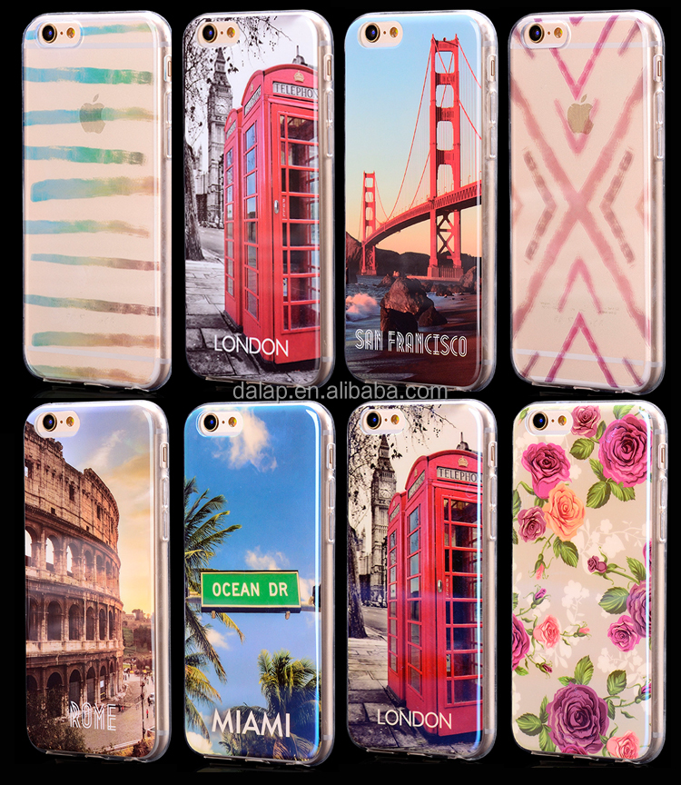 2017 hot selling customized design IMD technology tpu cell phone case for iphone 6