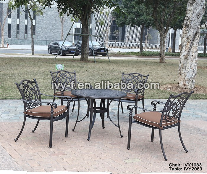 bistro exclusive design garden furniture outdoor metal table and chairs/outdoor metal table and chairs/antique chinese furniture