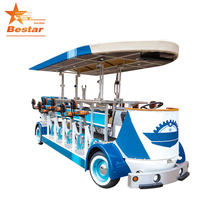 Electric leisure sightseeing special city bus beer bike party bike manufacturer