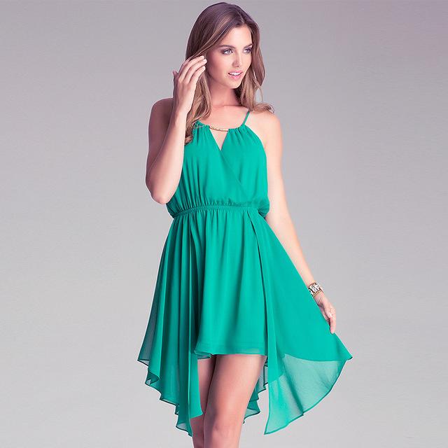 Women wholesale chiffon fabric price per meter spaghetti straps full sexy beach dress xxx photos