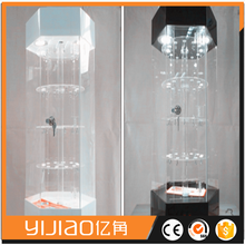 Clear acrylic led lighting electric rotating display stand