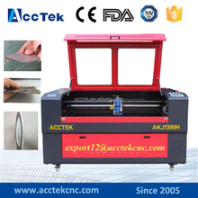Servo motor metal laser cutting machine /Co2 laser machine for metal AKJ1390H with ball screw tranmission