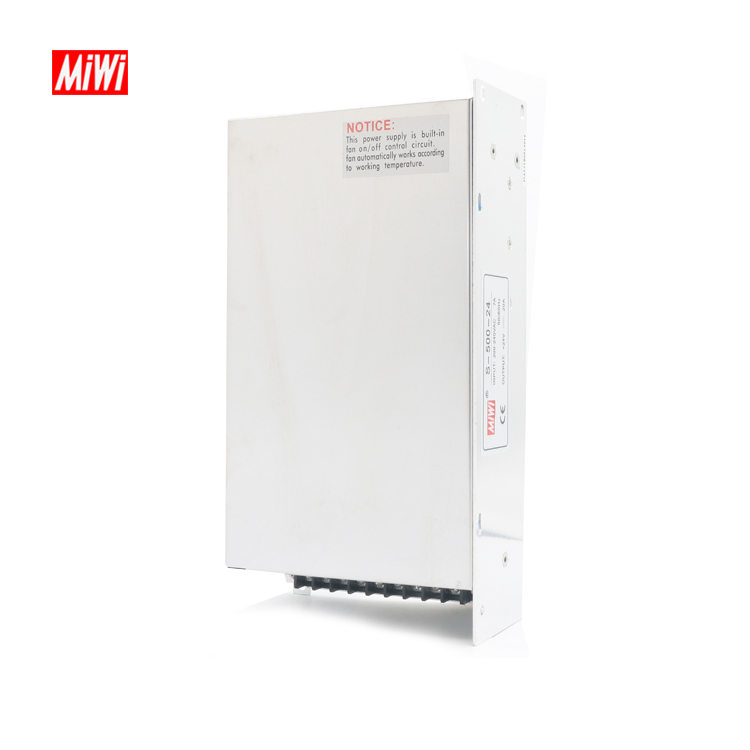 MiWi S-500-24 China Factory 24V 20.8A Switching Power Supply 24vdc