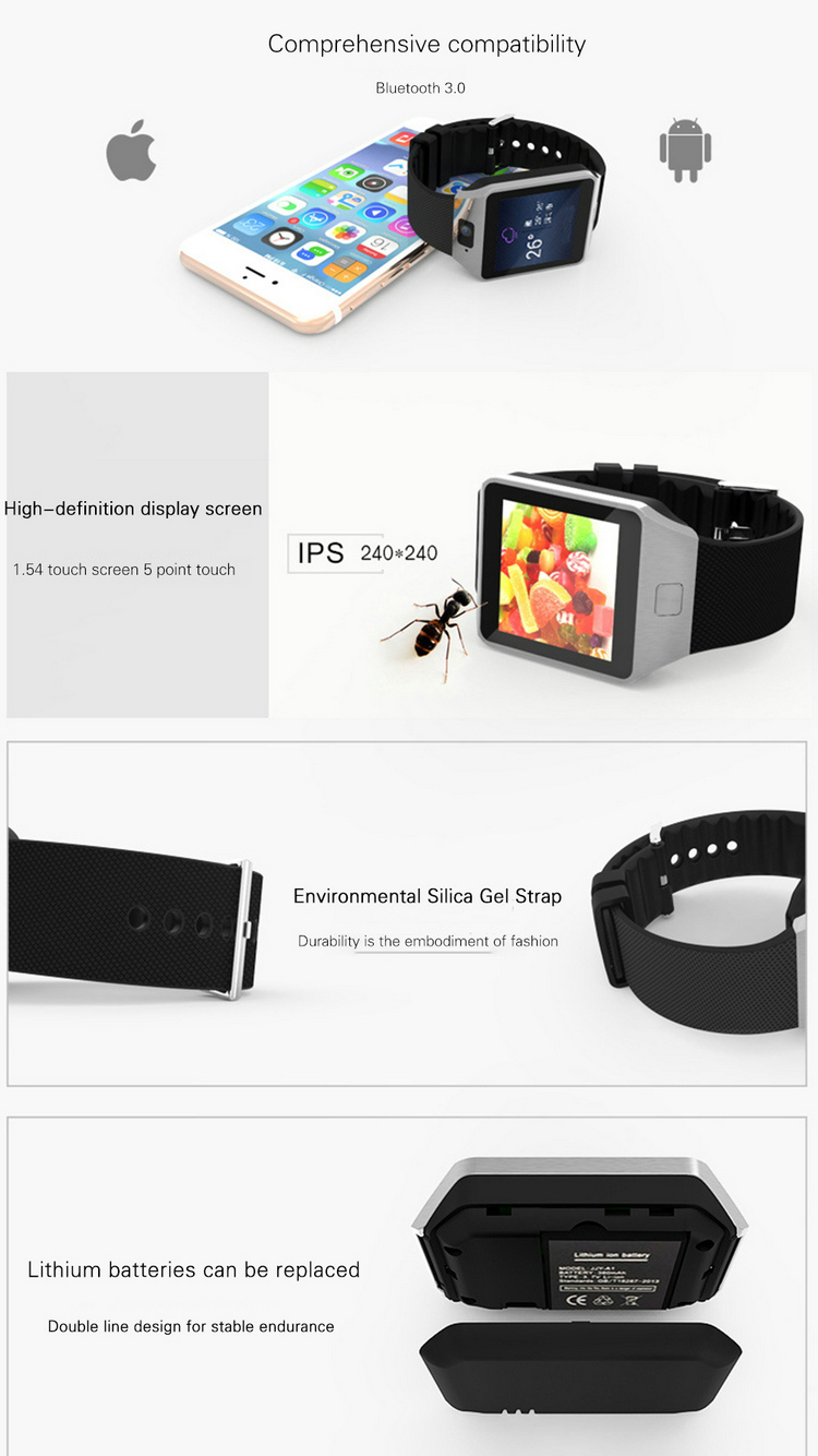 Cheap hotsale New bluetooths Smart Watch dz09 With Camera WristWatch SIM Card TF dz09 Smartwatch For Ios Android Phones