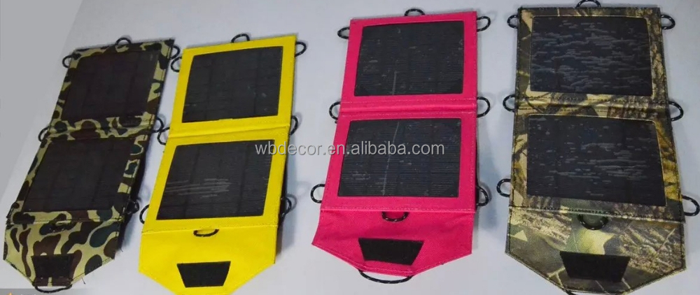 Waterproof and Powerful 3.5w foldable portable solar charger for mobile phone ipad and tablet