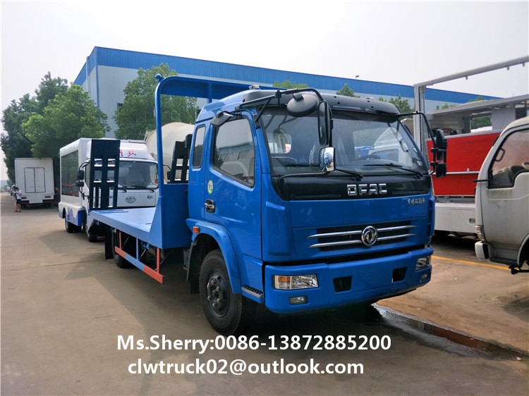 2017 most popular Dongfeng 3800 Wheelbase Flatbed Excavator Truck for export