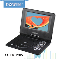 7 inch wholesale Portable DVD CD Player with USB/SD/MP3/Radio manufacture wholesale OEM nice quality USB TV GAME SD FM video