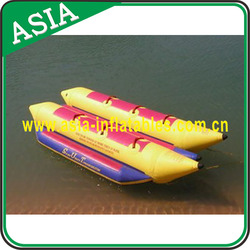 Commercial Funny PVC Inflatable Double Banana Boat