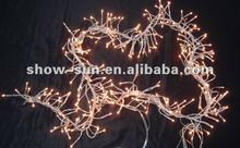 384 Rice Bulb Cluster Twinkling Christmas Lights 2.4m
