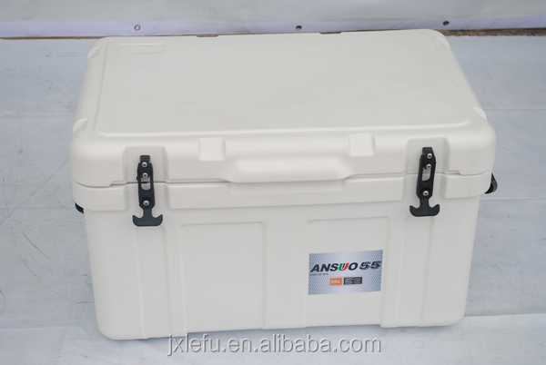 Ansuo plastic hinge cooler box with handle 75L